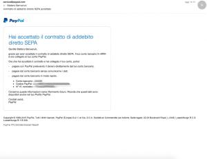 email di conferma paypal