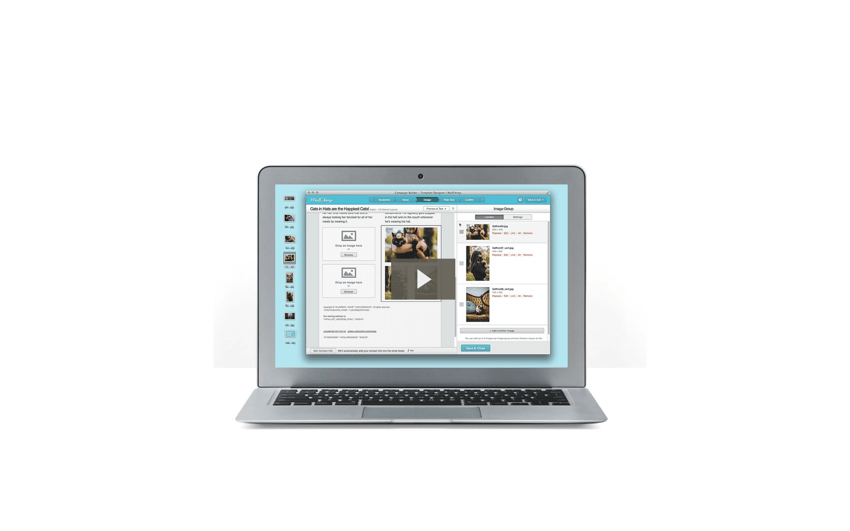 Nuovo Editor in Mailchimp