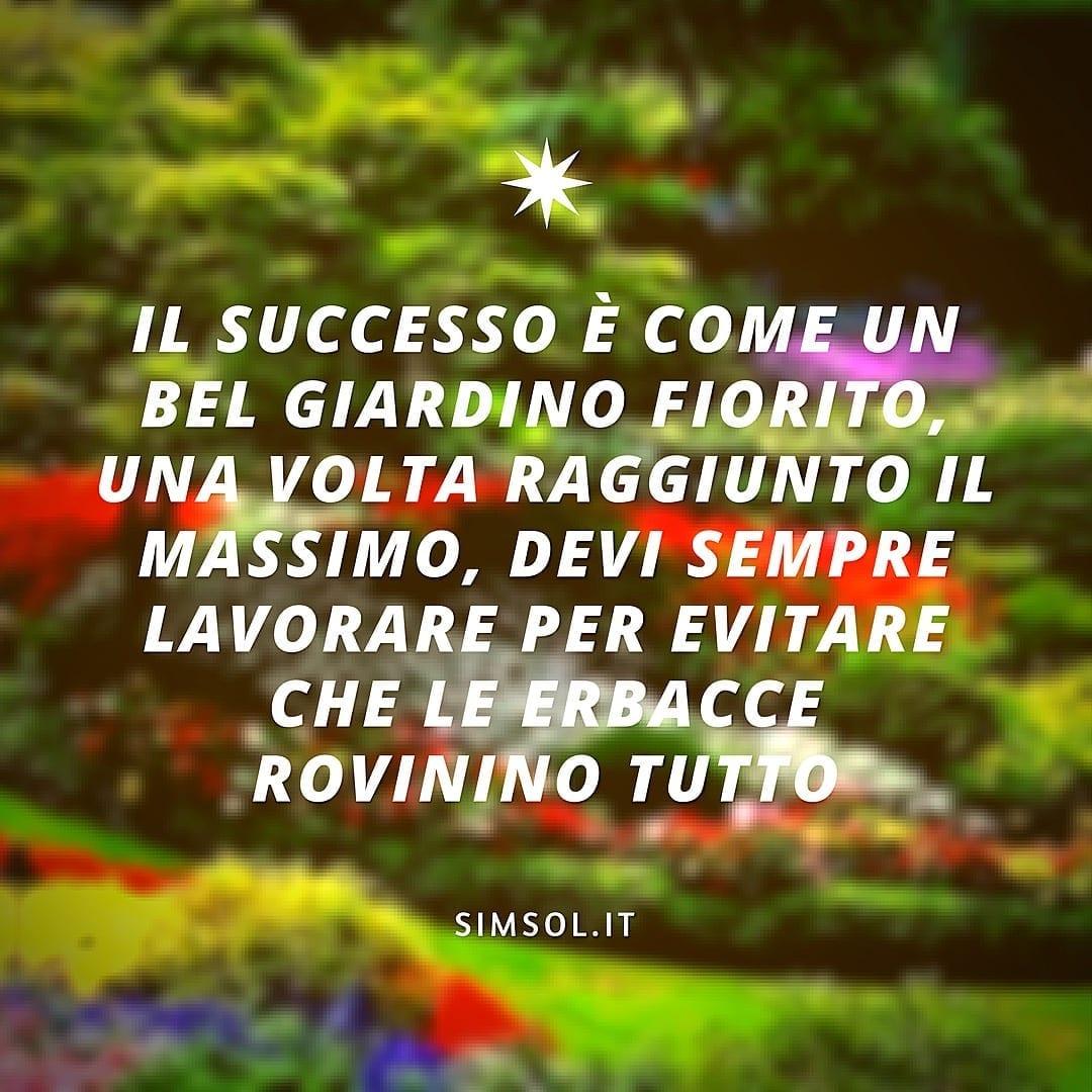 Il successo è come un giardino fiorito