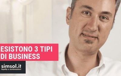 Esistono 3 tipi di business