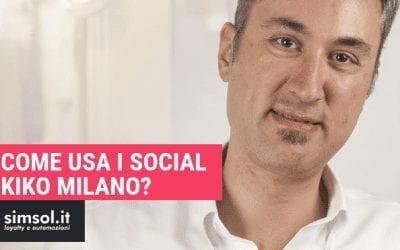 Come usa i social Kiko Milano?