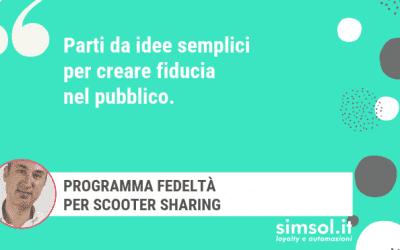 Programma fedeltà per Scooter Sharing