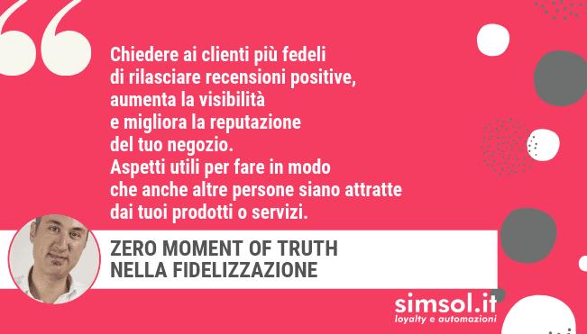 Zero Moment of Truth nella fidelizzazione