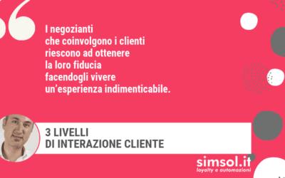 3 livelli di interazione cliente